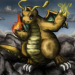 Dragonite using Fire and Thunder Punch