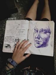 sketchbook + portrait by ieroslaugh