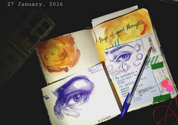 wreck this journal and basic eyes by ieroslaugh