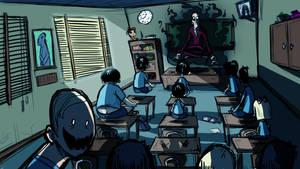 Creepy classroom
