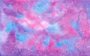 Cotton Candy Galaxy with Sugar Crystal Stars