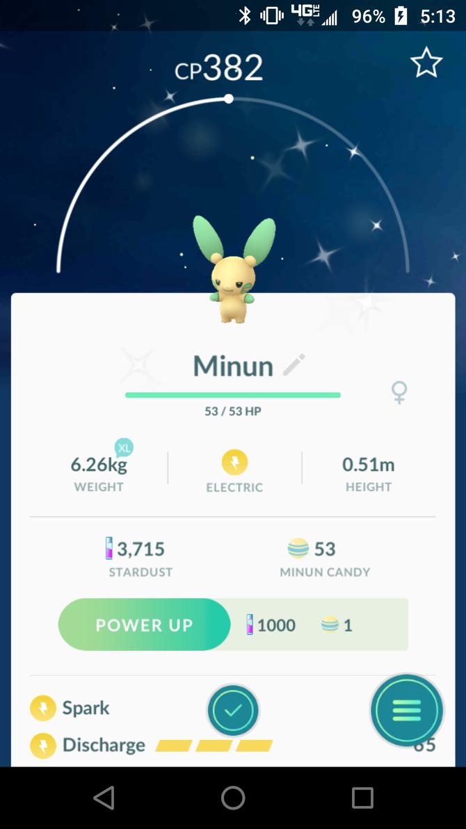 Shiny Minun! by Sephy90