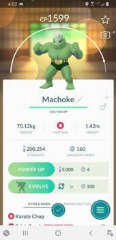 Shiny Machoke!