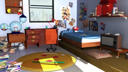 Tatsuki's Room - Day by CatsiefY