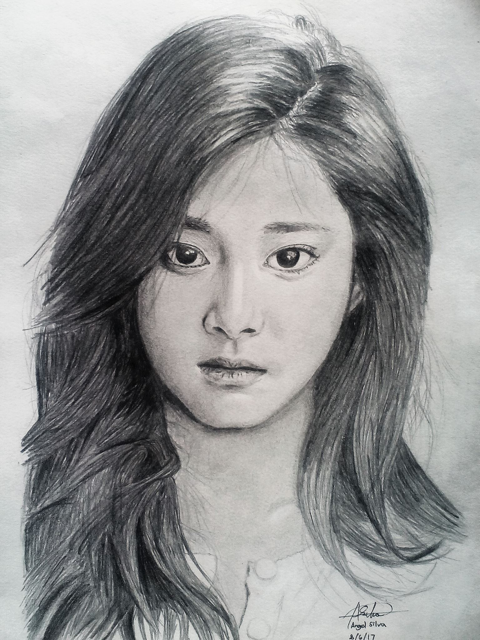 tzuyu_twice_portrait_graphite_drawing by GranZero73 on ...
