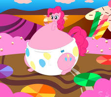 Padded Pinkie Pie In Candyland by The-Silver-Soldier