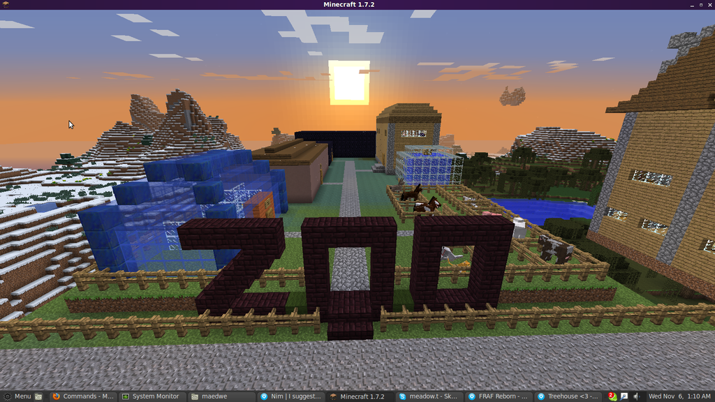 Zoo en Minecraft by Animela-WolfHybrid