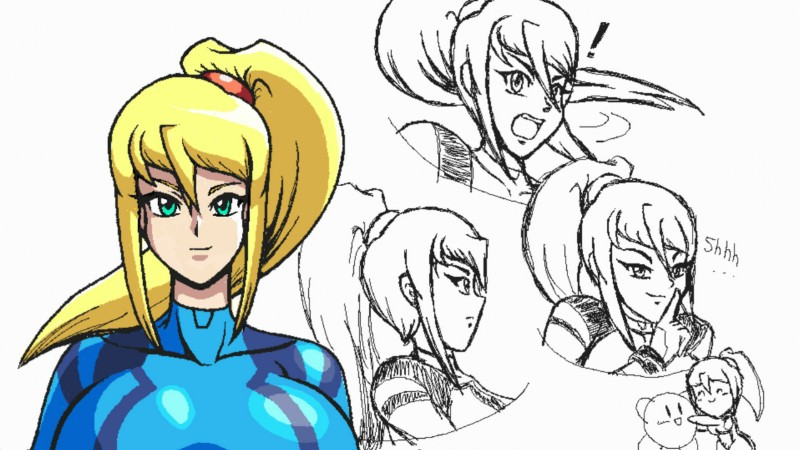 Samus expressions reference sheet by Ukato-drawings