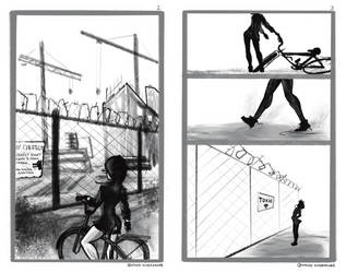 Olya at a Construction site, frames 2-3 preview