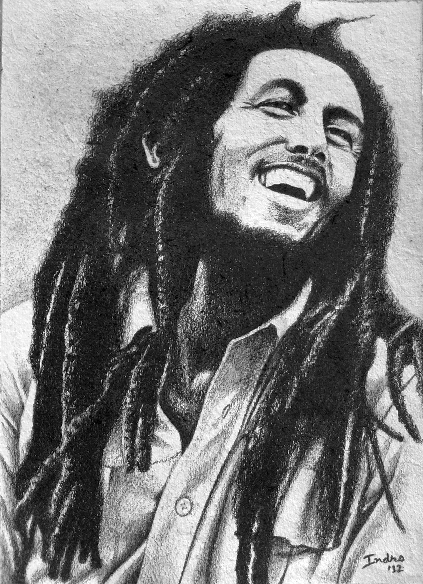 Bob Marley By IndraNeil On DeviantArt Wallpaper Black And White