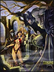 Brunner's Batman - Vampirella by lizzbuenaventura