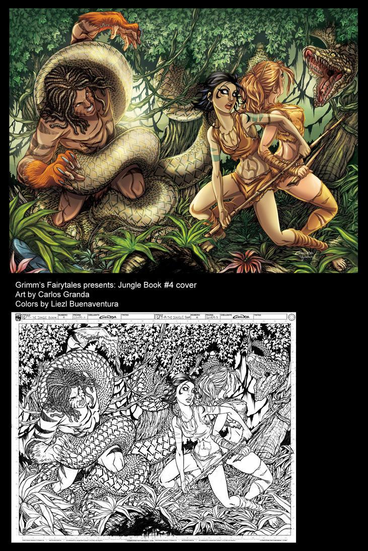 Jungle Book Cover Art : Jungle book cover by lizzbuenaventura on deviantart