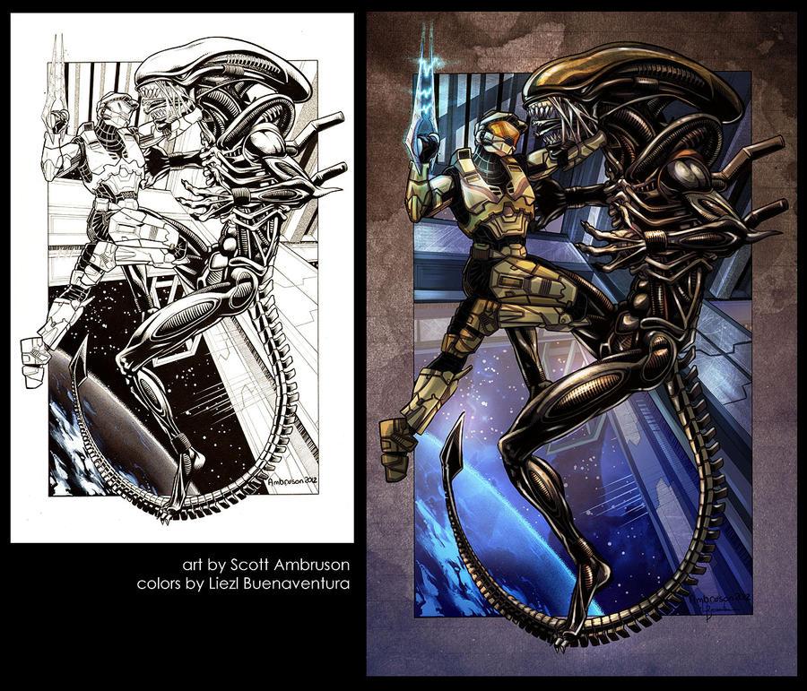 Xenomorph Vs Master Chief