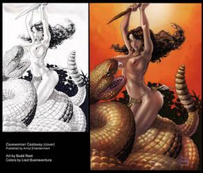 Cavewoman: Castaway Cover by lizzbuenaventura