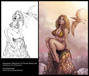 Cavewoman: Killing Dinos 101 Summer Break cover by lizzbuenaventura