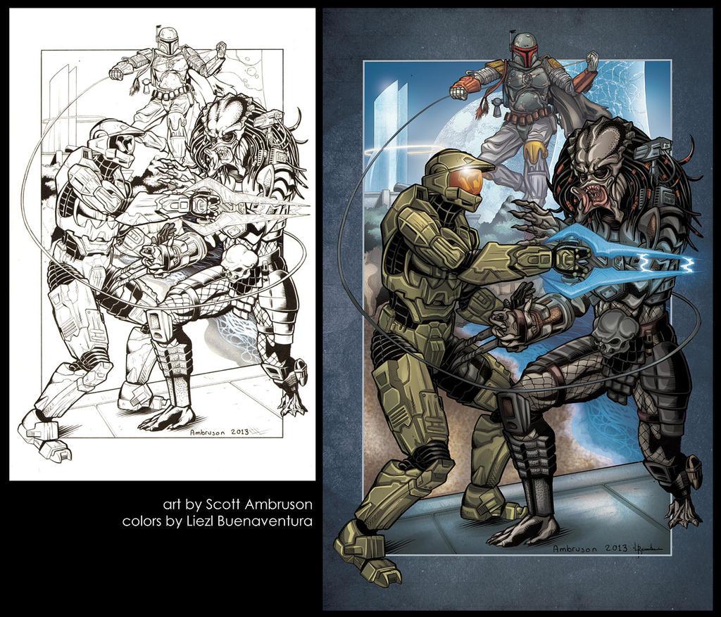 Master Chief vs. Predator vs. Boba Fett by ...