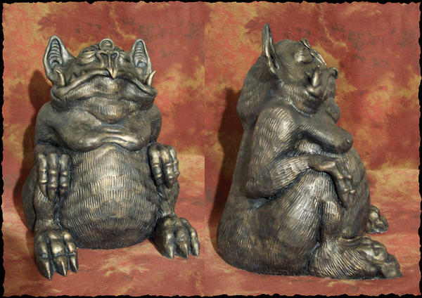 Tsathoggua idol by Loneanimator