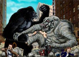 King Kong Vs Frankenstein by Loneanimator
