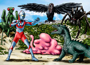 Ultraman Goes To Hollywood by Loneanimator