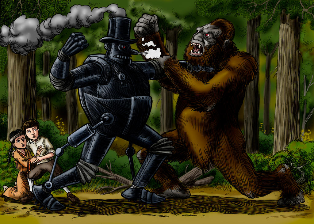 The Steam Man Meets Sasquatch by Loneanimator