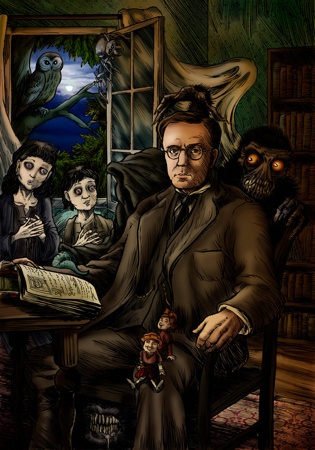 Montague Rhodes James by Loneanimator