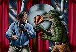 Lon Chaney jr vs Alligator Man