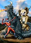 Fireman and MukuMuku vs Makurosaurus