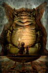In the Temple of Tsathoggua by Loneanimator