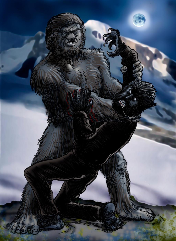 The Yeti vs The Werewolf by Loneanimator on DeviantArt
