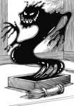 2017 Inktober Monster Challenge:5 Inkstone Yokai