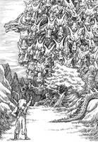 2017 Inktober Monster Challenge 6: Ladon by Loneanimator