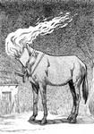 Inktober Monster Challenge11: Headless Mule