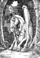 Inktober Monster Challenge13: Tikbalang by Loneanimator