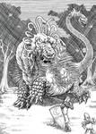 Inktober Monster Challenge19: Peluda