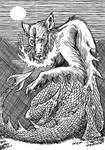 Inktober Monster Challenge20: Zmag Oghjeni Vuk