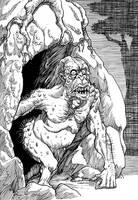 Inktober Monster Challenge 22: Martense Creature by Loneanimator