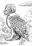 Inktober Monster Challenge 26: Simurgh