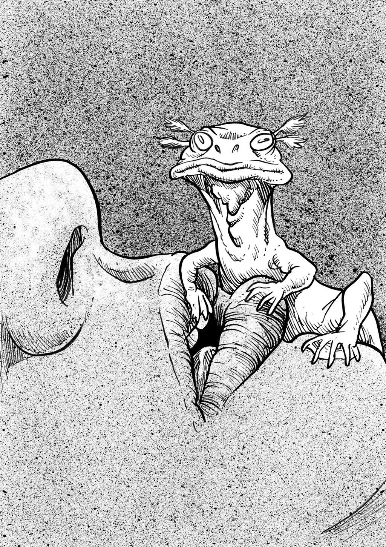Inktober Monster Challenge 28: Alp-luachra by Loneanimator