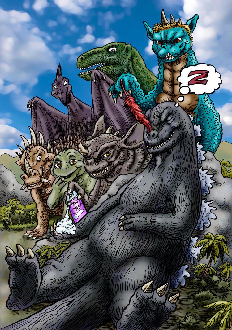 Hijinx On Monster Island by Loneanimator