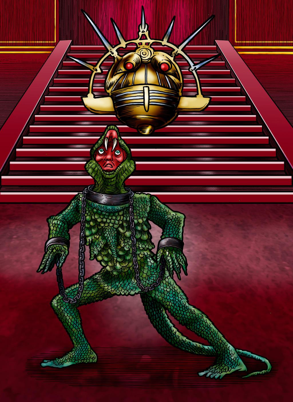 Halt, Lizard Man! Escape Is Impossible. by Loneanimator