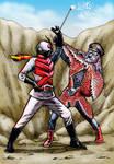 Kamen Rider X vs Starfish Hitler by Loneanimator