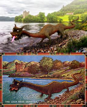 Postcard Nessie