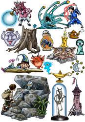 Fantasy Game Doodles
