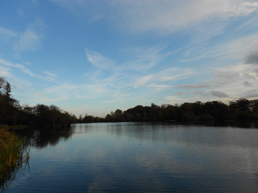 Bolam Lake reflecting the sky2 by Billiam268