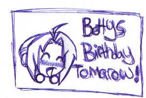 its my birthday ....tomarow