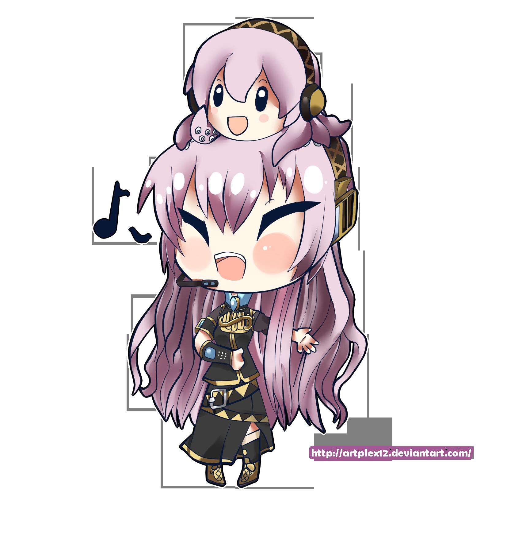 Vocaloid chibi series- Luka Megurine by Artplex12 on ...