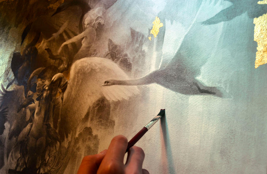 The Fall... Work in progress 5... Waterfalls... by Yoann-Lossel
