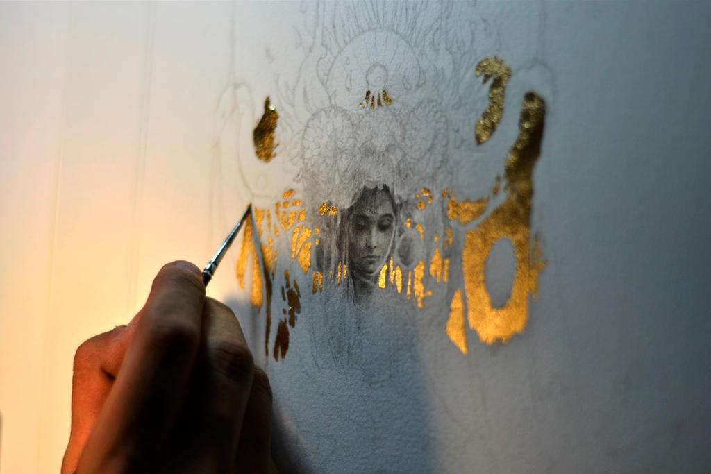 Eros et Thanatos... Work in progress 1... Nyx... by Yoann-Lossel