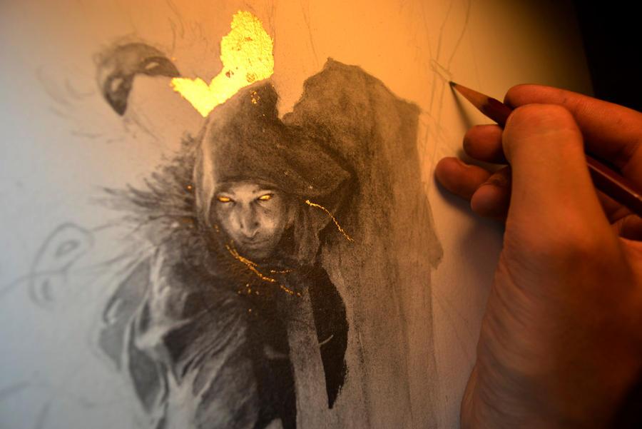 Thanatos... Work in progress 1... Harvest... by Yoann-Lossel