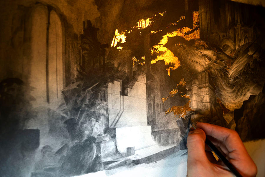 Smaug... Work in progress 5... A dwarf among... by Yoann-Lossel